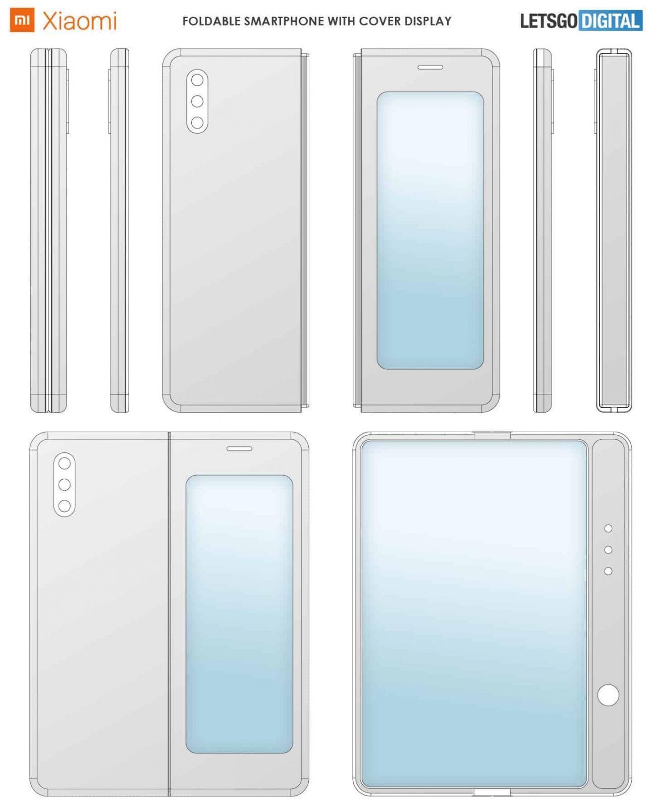 Xiaomi получила патент на складной смартфон в стиле Galaxy Fold (xiaomi opvouwbare smartphone)