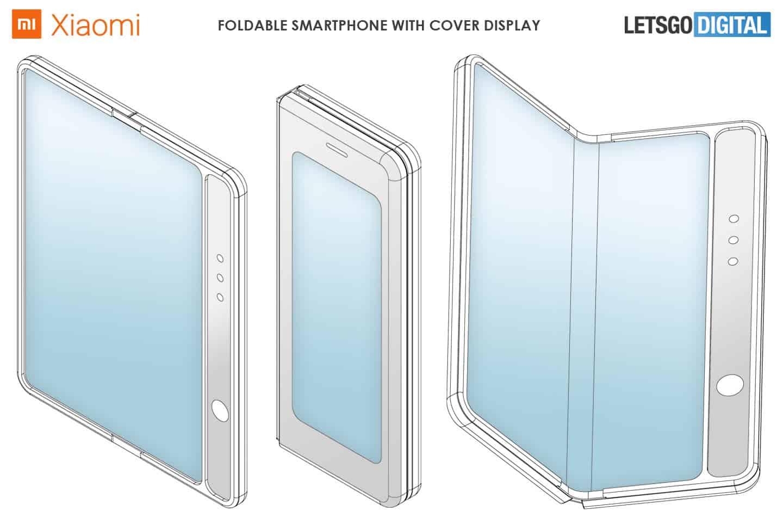 Xiaomi получила патент на складной смартфон в стиле Galaxy Fold (xiaomi smartphone cover display)