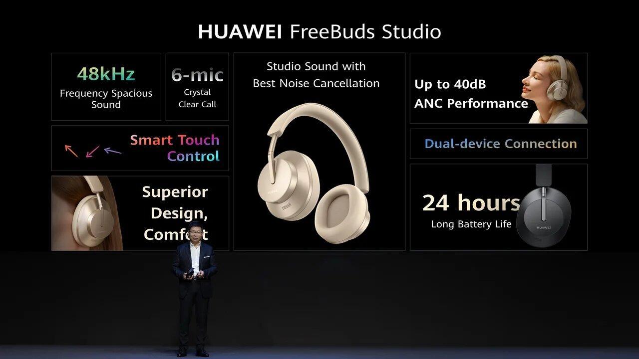 В России начались продажи наушников Huawei FreeBuds Studio (HUAWEI FreeBuds Studio onsite photo)