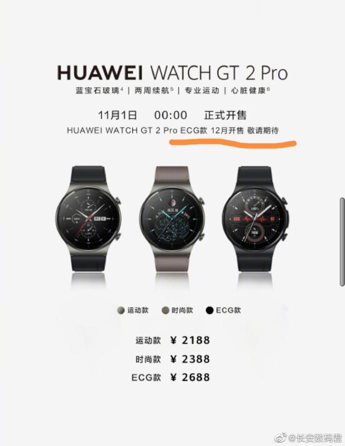 Huawei Watch GT 2 Pro научатся делать ЭКГ (Huawei Watch GT2 Pro ECG)