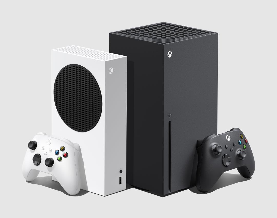 В России стартовали продажи Xbox Series X и Xbox Series S (Still Image Console Family 2 Back to Back Consoles Controllers)