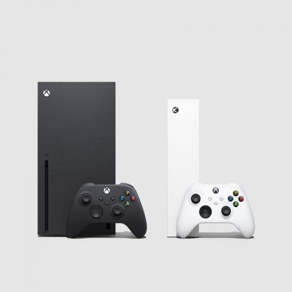 В России стартовали продажи Xbox Series X и Xbox Series S (Still Image Console Family 3 Front Facing Consoles Controllers)