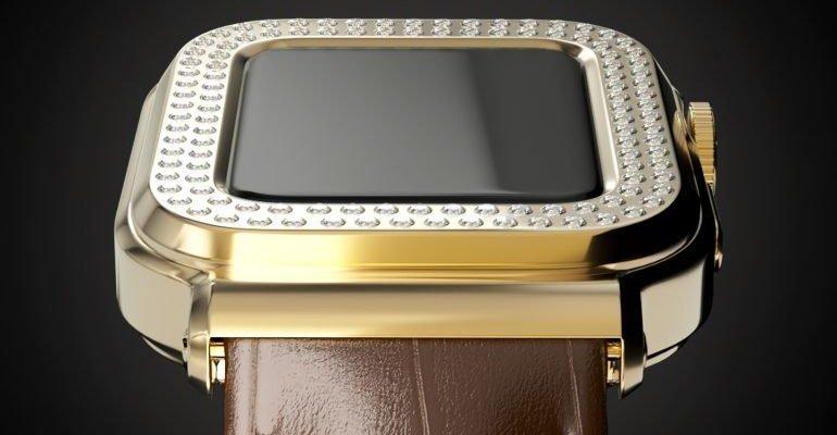 Caviar представила Apple Watch за 3 миллиона рублей (apple watch 6 gold diamonds 770x481 1)