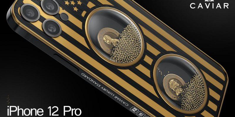 Caviar выпустила серию iPhone 12 Pro, посвященных борьбе Трампа и Байдена (biden trump smartphone large)