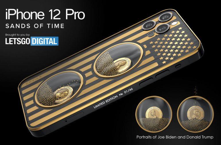 Caviar выпустила серию iPhone 12 Pro, посвященных борьбе Трампа и Байдена (iphone 12 pro max 5g telefoon 770x508 1)