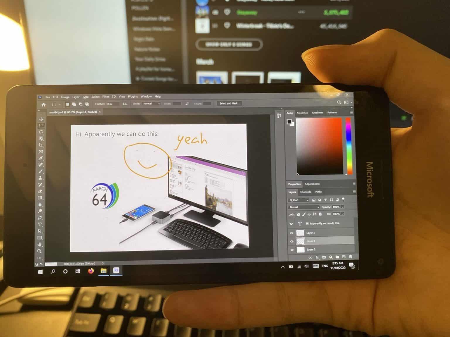 На древнем Microsoft Lumia 950 XL теперь работает настольная версия Photoshop (photoshop 1536x1152 1)