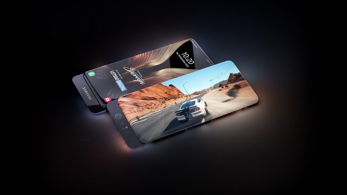 Samsung готовит смартфон наподобие Xiaomi Mi Mix Alpha (samsung galaxy smartphone sliding camera)