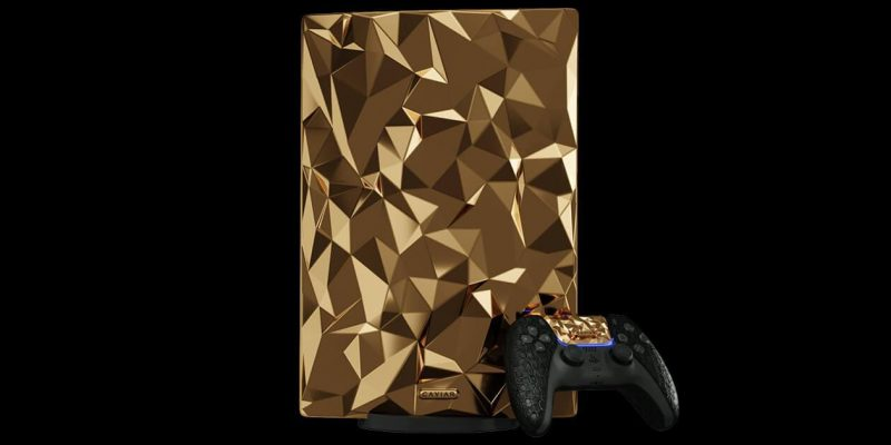 Caviar анонсировала полностью золотую PlayStation 5 (12)