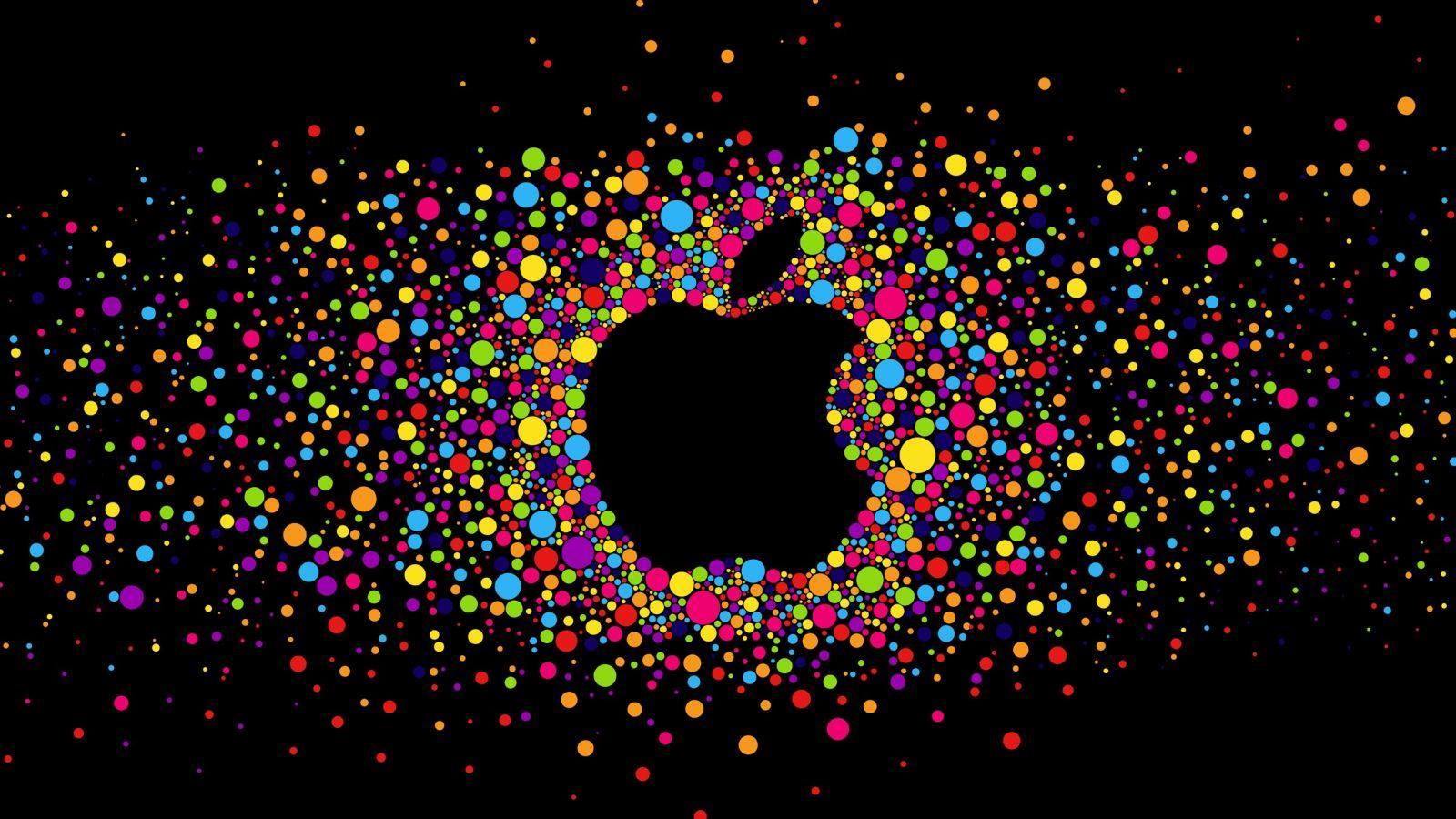 """""""Каждый раз, когда мне приходится использовать iPhone, я чувствую, что попадаю в Средневековье"""". Павел Дуров раскритиковал Apple (Colorful circles Apple logo black)"""