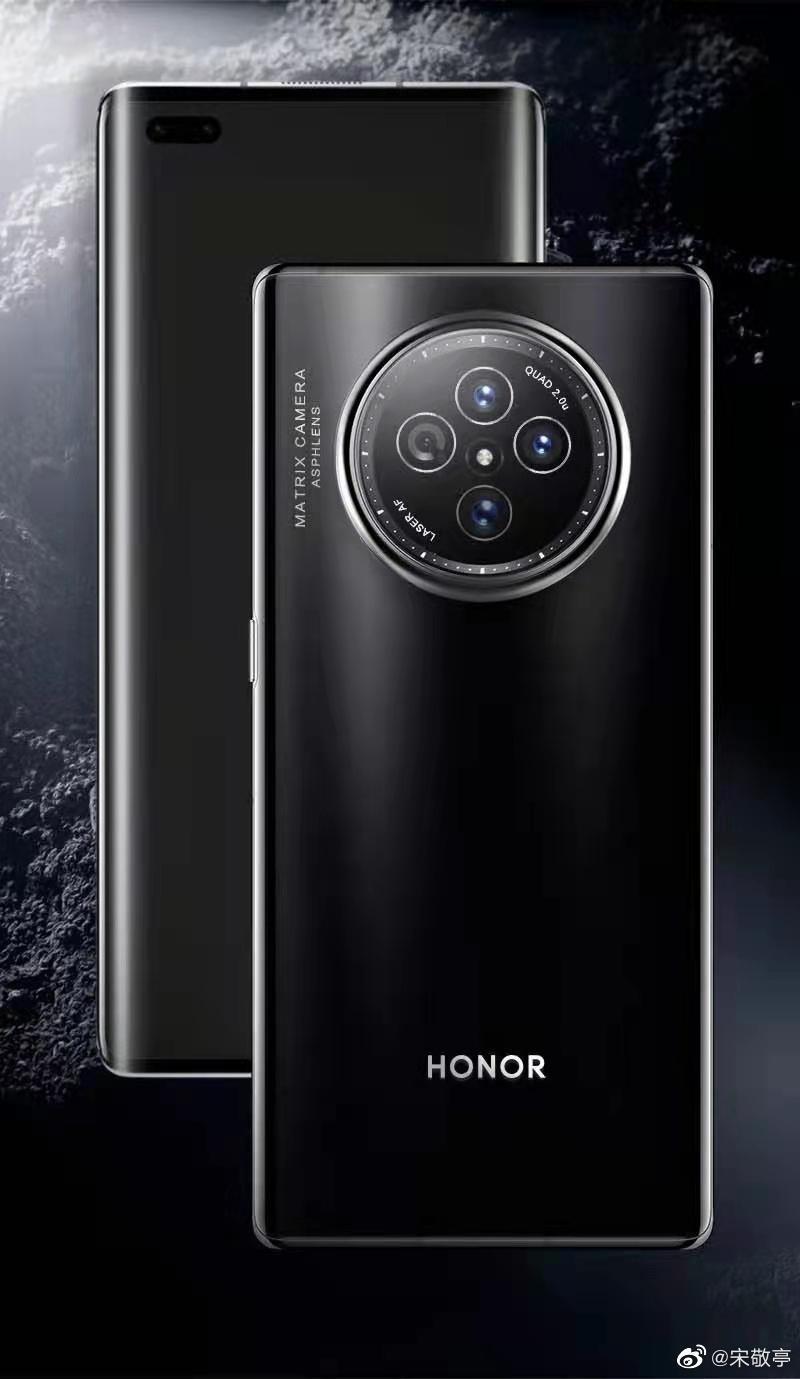 Камера Honor V40 будет похожа на циферблат часов (Honor V40 render)