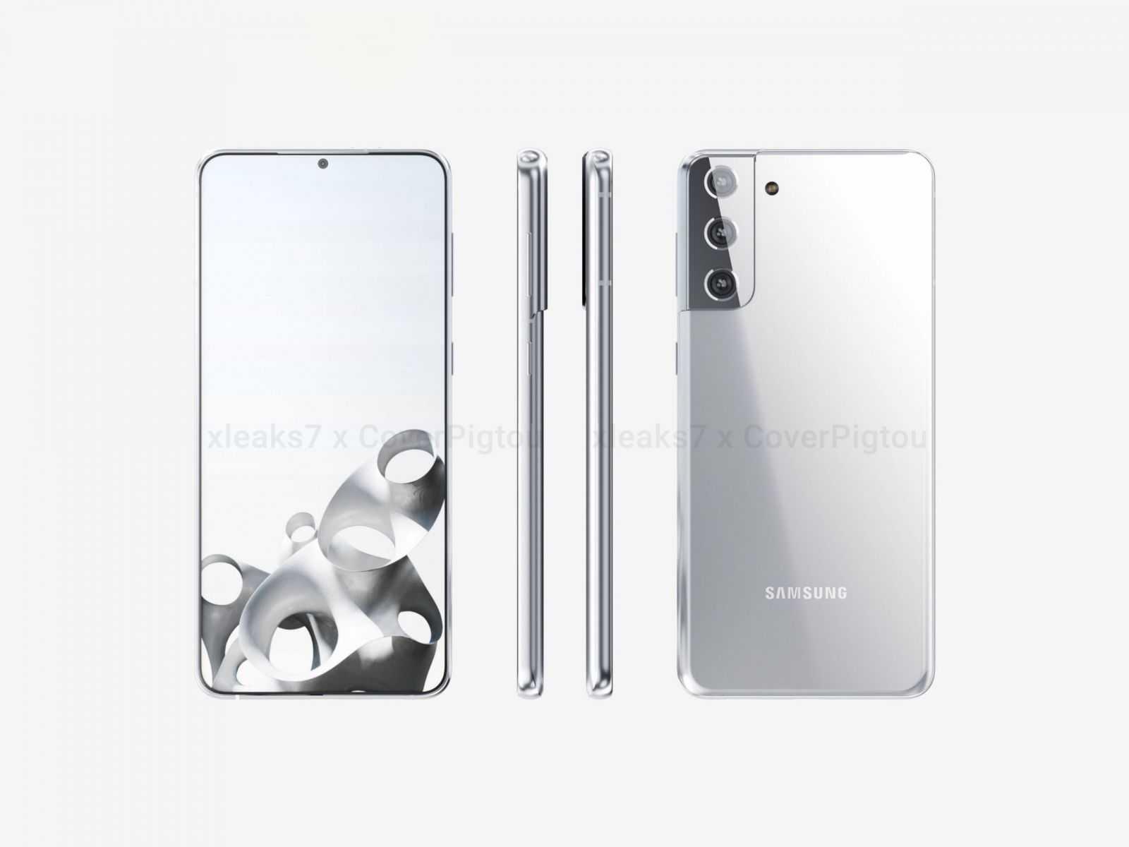 Samsung Galaxy S21+ позирует на качественных рендерах (Samsung Galaxy S21 Plus 3D CAD Renders 01 scaled)
