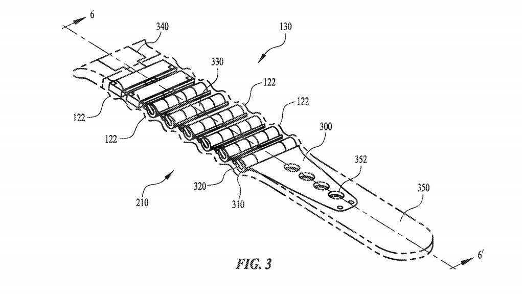 Apple запатентовала часовой ремешок с встроенной батареей (battery band)