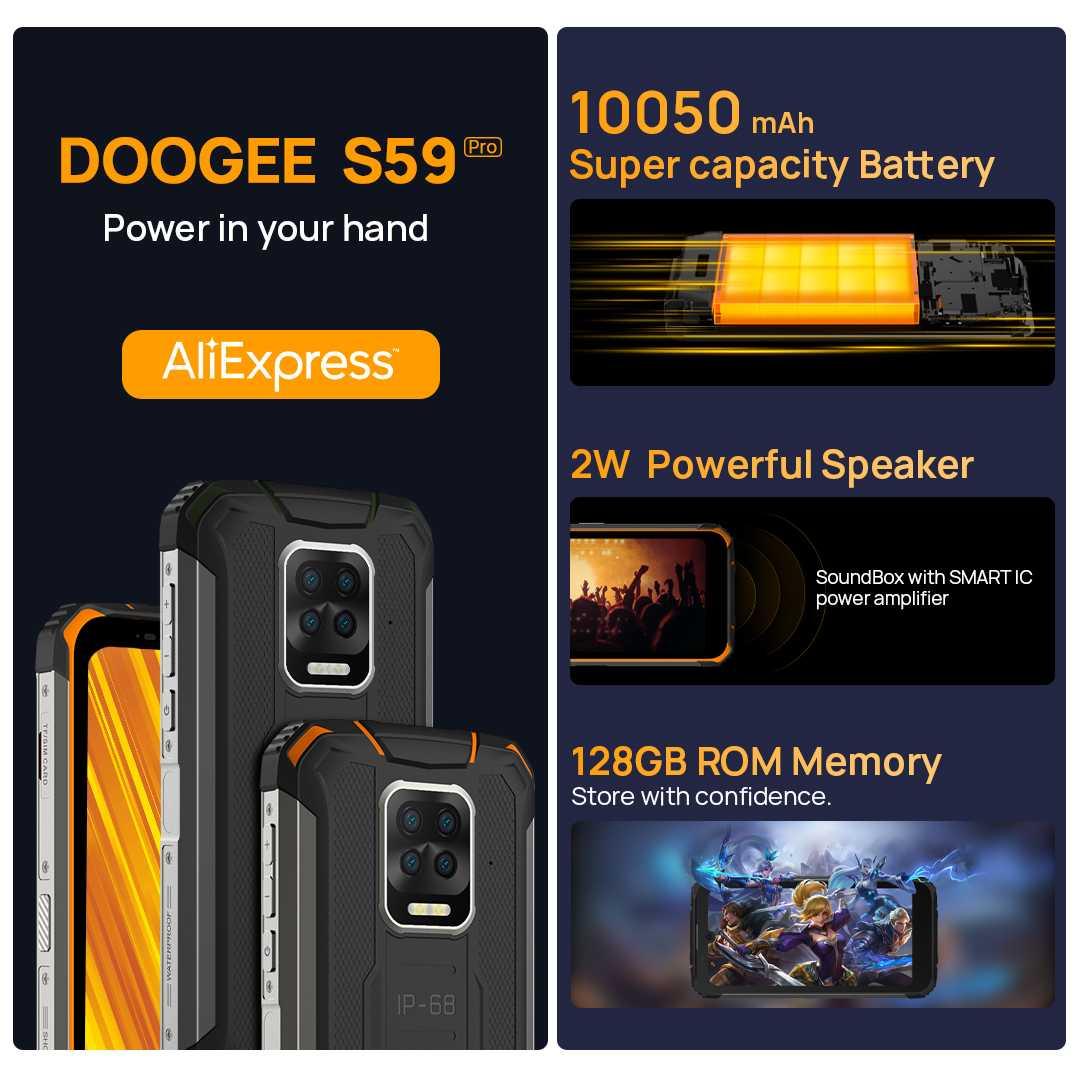 Китайская компания Doogee представила смартфон с батареей на 10050 мАч (three main sale points)