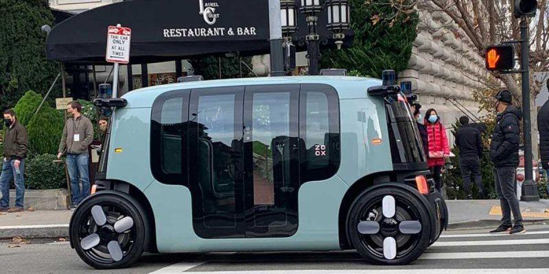 Amazon представила беспилотное электро-такси Zoox (zoox launch)