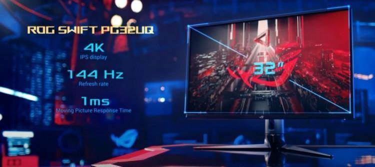 CES 2021: Asus представила первый в мире 32-дюймовый игровой монитор 4K с HDMI 2.1 (69789789)