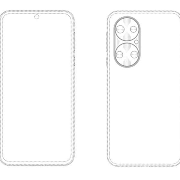 Huawei придумала новый дизайн камеры для своих смартфонов (huawei patent quad camera large)