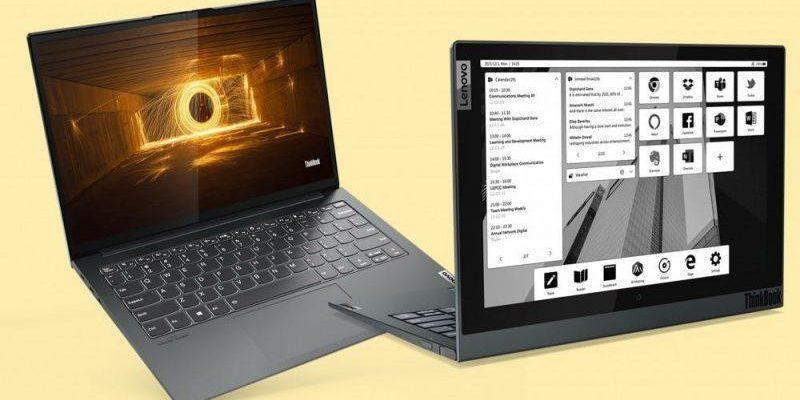 CES 2021: Lenovo представила новый ноутбук с E-ink экраном (lenovo launches thinkbook plus gen 2 at ces 2021 800x450 1)