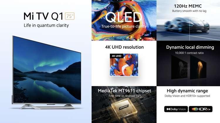 Xiaomi представила 75-дюймовый QLED-телевизор Mi TV Q1 (1)