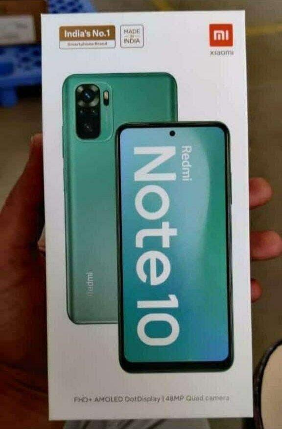 Розничная коробка Redmi Note 10 демонстрирует смартфон во всей красе