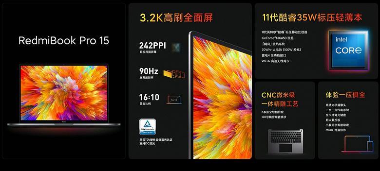 Redmi продемонстрировала новую линейку ноутбуков RedmiBook Pro (3 1)