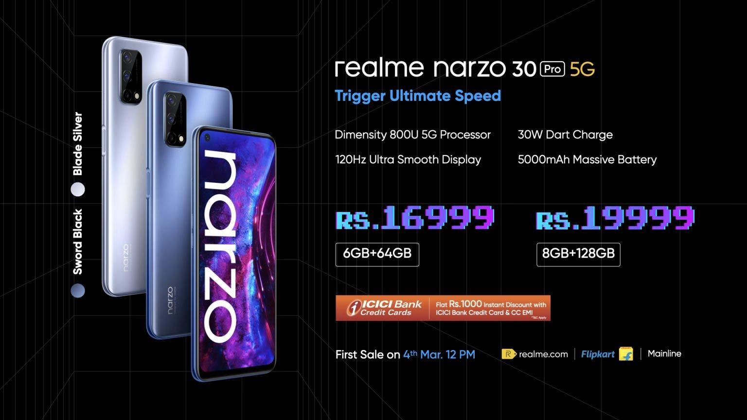 Realme представила смартфон Narzo 30 Pro с экраном 120 ГЦ и батареей 5000 мАч (narzo 30 pro 1536x864 1)