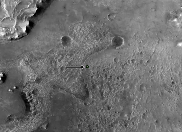 Марсоход Perserverance с вертолётом-дроном успешно высадился на Марс (screen shot 2021 02 18 at 6.30.30 pm 800x435 1)