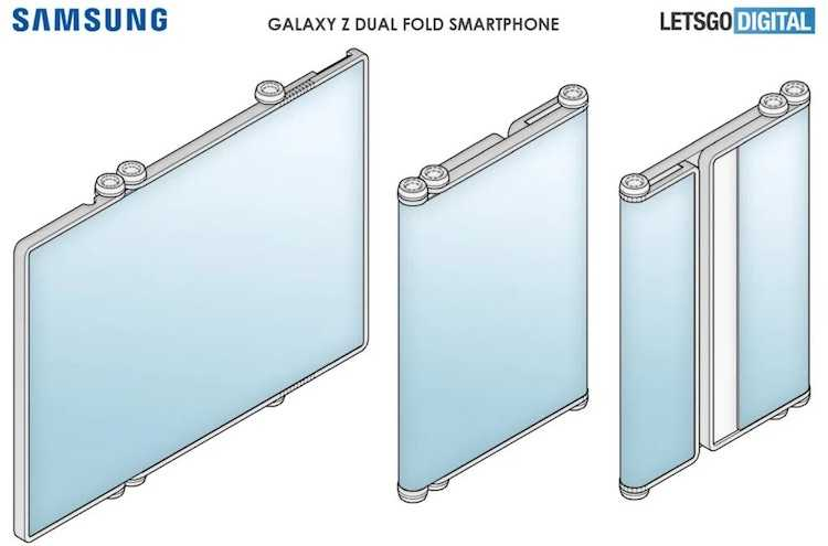 Ещё больше сгибов: Samsung представит смартфон, который складывает уже в двух местах (37482374)