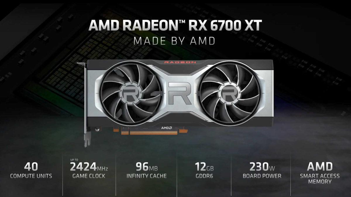 AMD представила свою новую видеокарту из семейства RDNA2 - Radeon RX 6700 XT (amd radeon rx 6700 xt specs 1200x675 1)