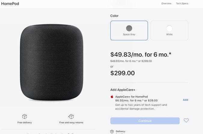 Apple откажется от своей колонки HomePod в пользу мини-модели (apple homepod)