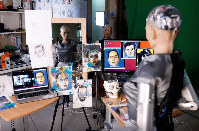 На аукцион в форме NFT выставили картину, написанную роботом