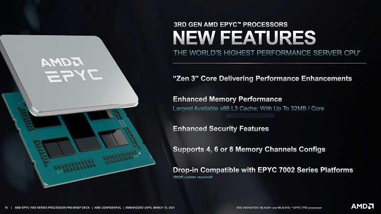 Cерверные процессоры AMD Epyc 7003: До 64 ядер частотой до 4,1 ГГц (epyc 3 large)