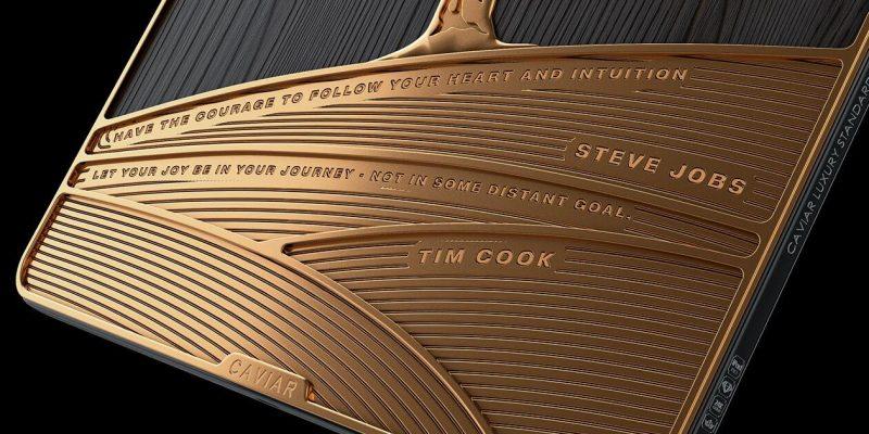 Caviar представила новую лимитированную линейку продуктов Apple (ipad woodtext 8 onnm qu)