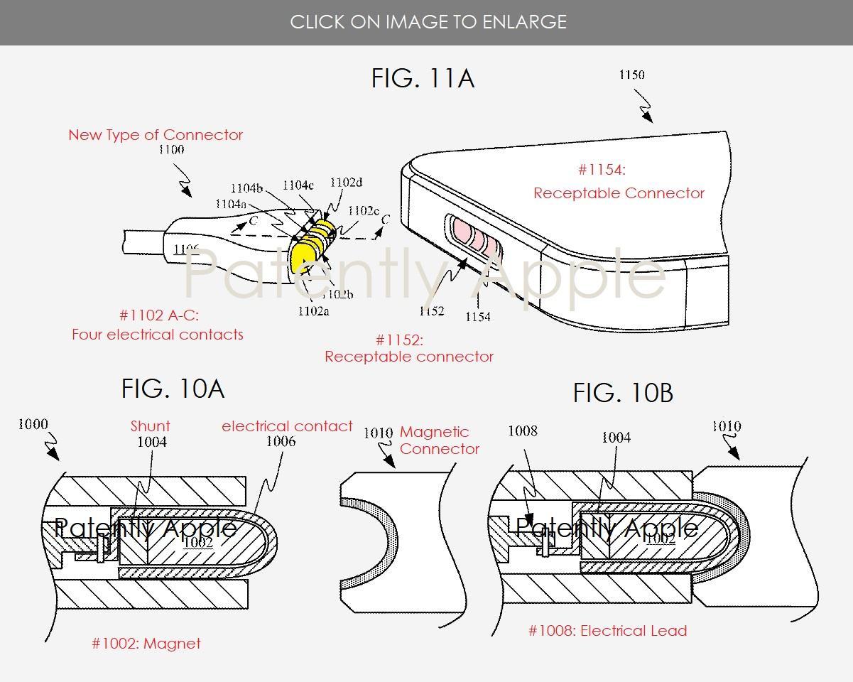 Apple патентует новый магнитный разъем, который может заменить порт Lightning на iPhone (iphone magnetic connector patent)
