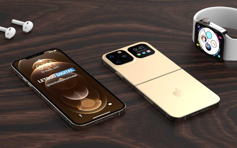 Красочные рендеры первого складного iPhone (iphone opvouwbare smartphone)
