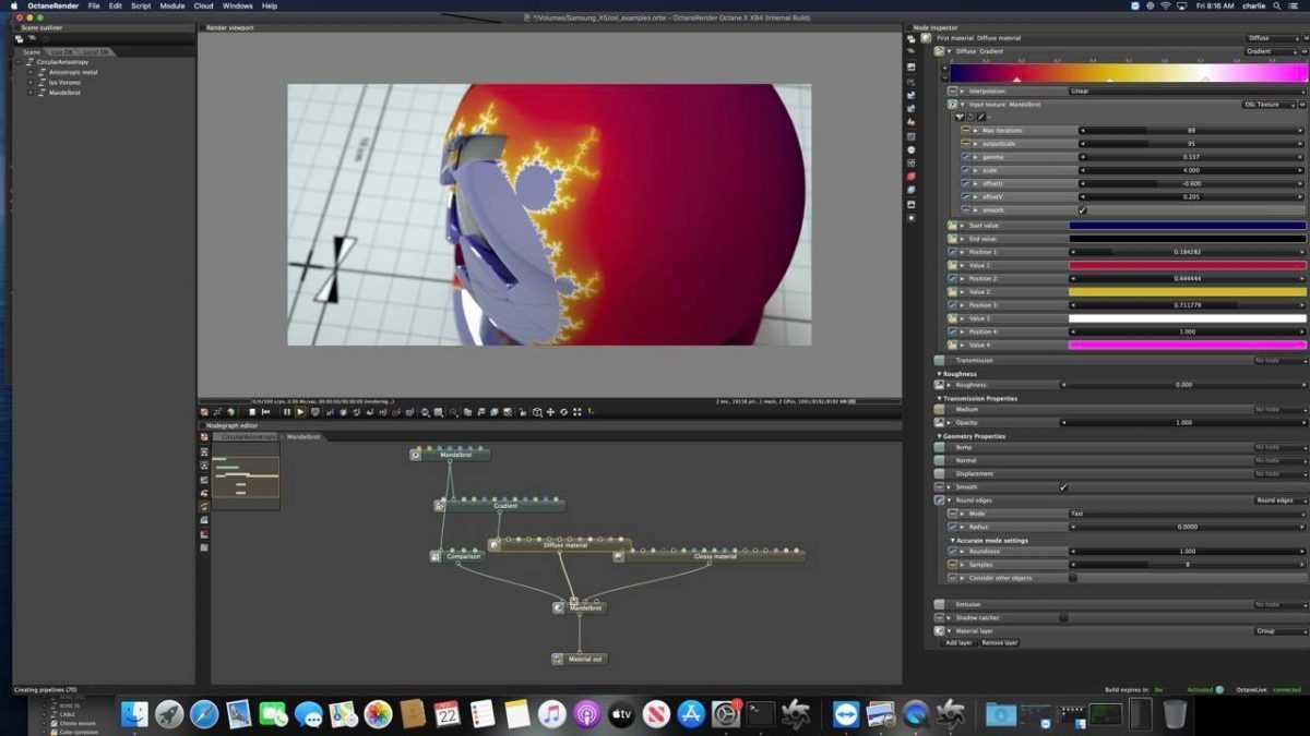 Значительное обновление приложений под Mac с M1: DaVinci Resolve, Adobe Photoshop, Octane X (otoy octane x running on macos 1200x675 cropped)