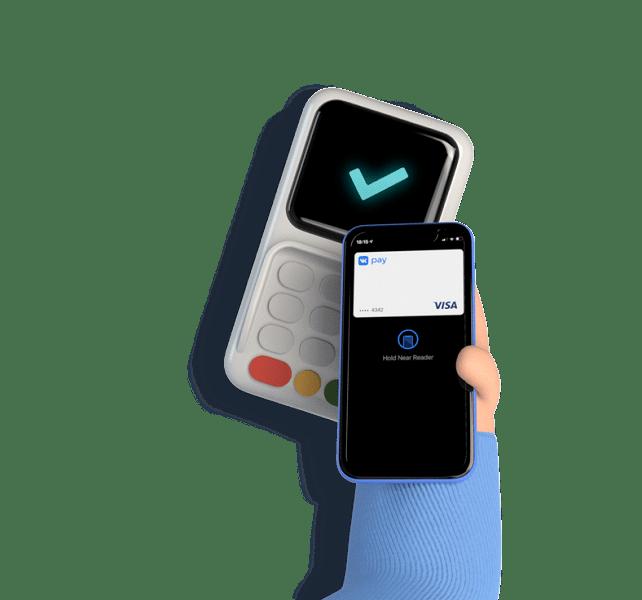 ВКонтакте запустила собственную виртуальную карту Visa (phone with terminal)