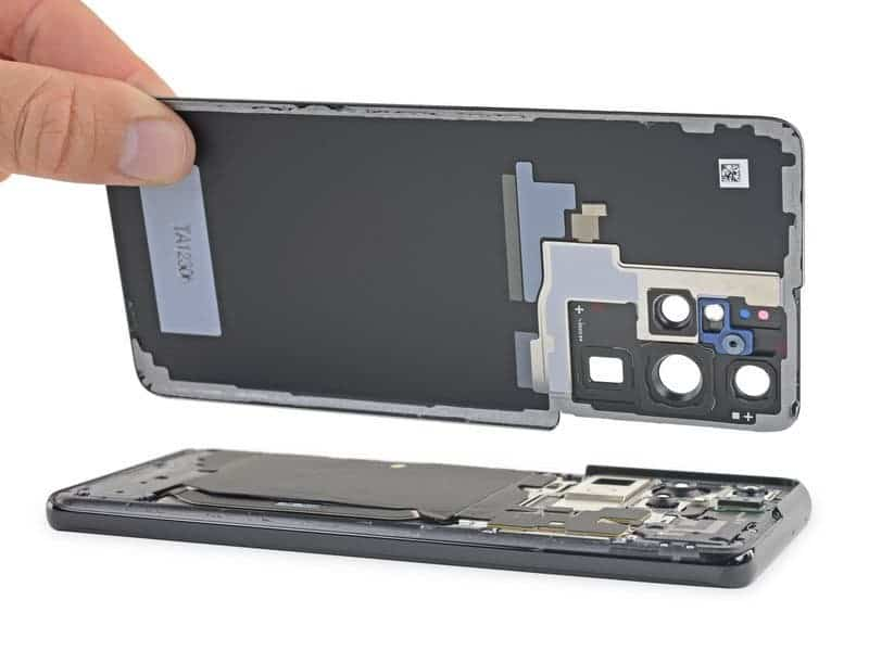 Samsung Galaxy S21 Ultra провалил тест на ремонтопригодность (s21 ultra 4)