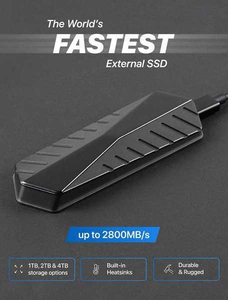 Самый быстрый в мире внешний SSD-накопитель от стартапа GigaDrive ()