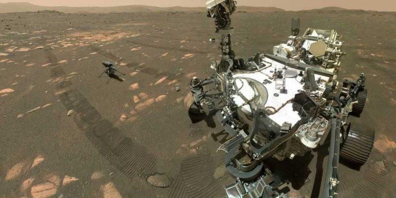 Вертолет NASA Ingenuity Mars готовится к первому полету (117956926 whatsubject)