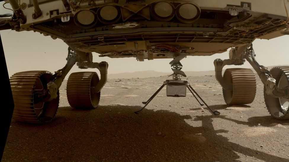 Вертолет NASA Ingenuity Mars готовится к первому полету (117956927 whatsubject)