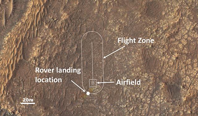 Вертолет NASA Ingenuity Mars готовится к первому полету (117956931 map nc)