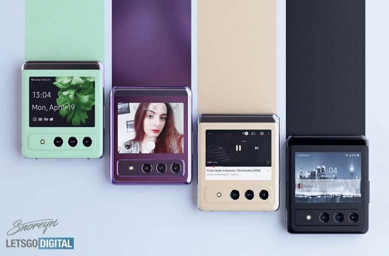 Samsung Galaxy Z Flip3 позирует на качественных рендерах (2 1)