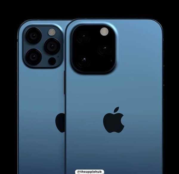 Вот как будет выглядеть блок камер в iPhone 13 Pro