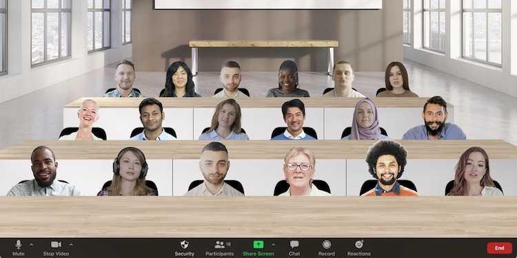 Теперь в Zoom можно рассадить участников видеоконференций в виртуальном помещении (2894832894)