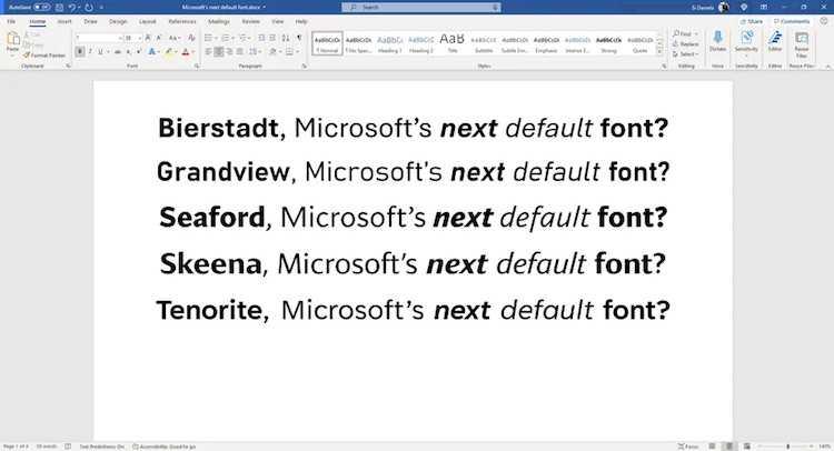 Calibri всё. Microsoft впервые за долгие годы изменит стандартный шрифт