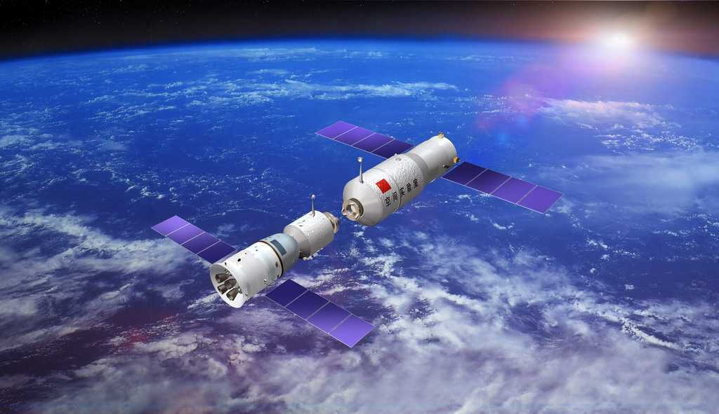 Новая космическая станция Китая официально вышла на орбиту ()