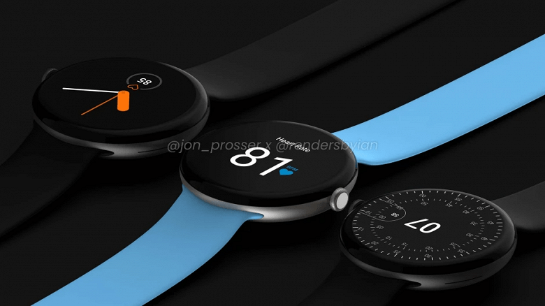 Google Pixel Watch показали на рендерах (google pixel watch 2 large)