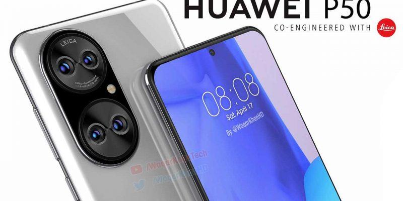 Huawei P50 засветился на новых качественных рендерах (huawei p50 pode chegar com sistema de cameras espetacular)