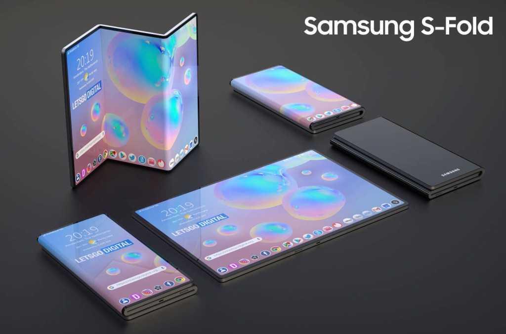 Samsung может работать над новым крутым складным телефоном (samsung s foldable trademark 2)