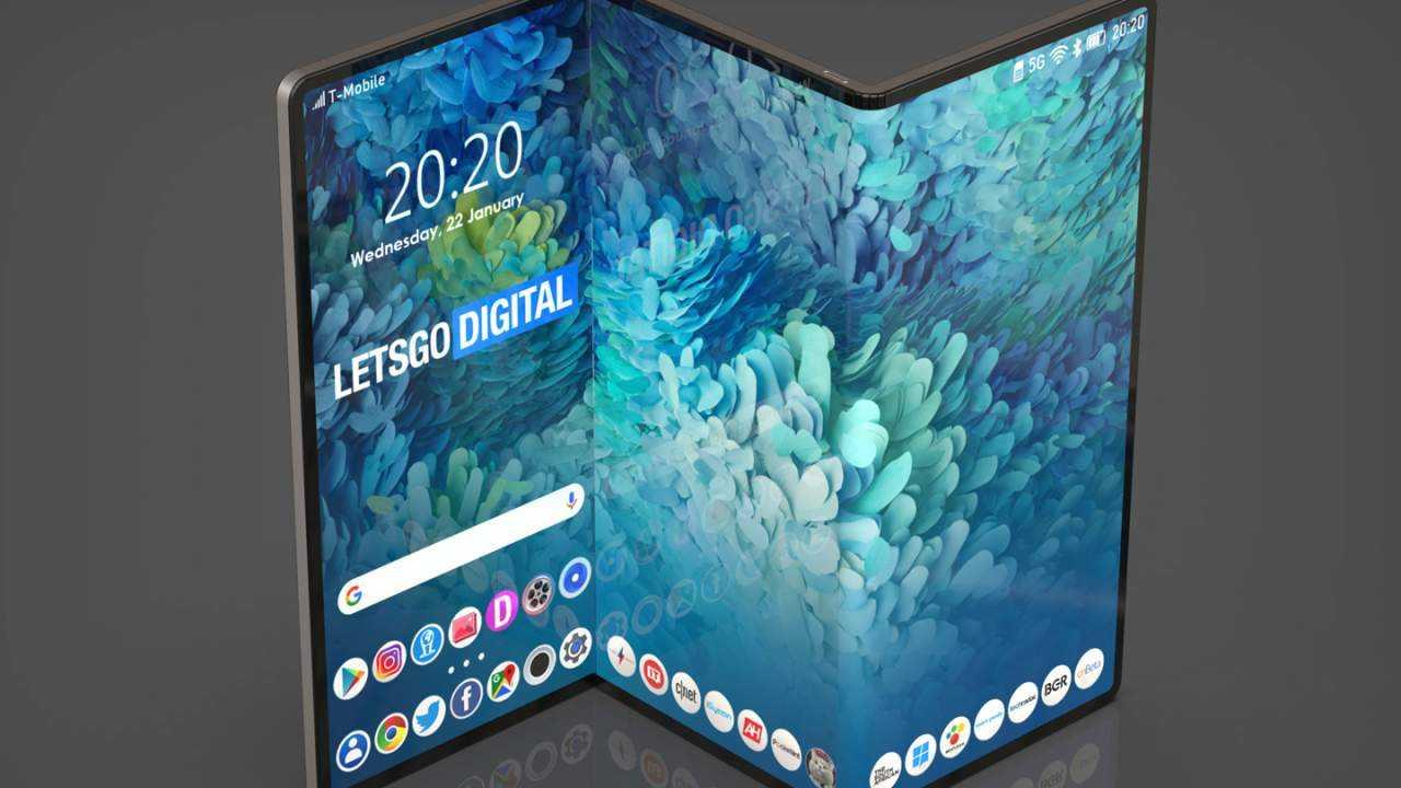 Samsung делает складной планшет Galaxy Z Fold (samsung z fold opvouwbare tablet 1280x720 1)